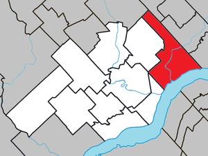 Sainte-Anne-de-la-Pérade - Image: Sainte Anne de la Pérade Quebec location diagram