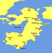 Salamis Island Greece Map