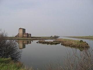lagoons in Emilia-Romagna, Italy