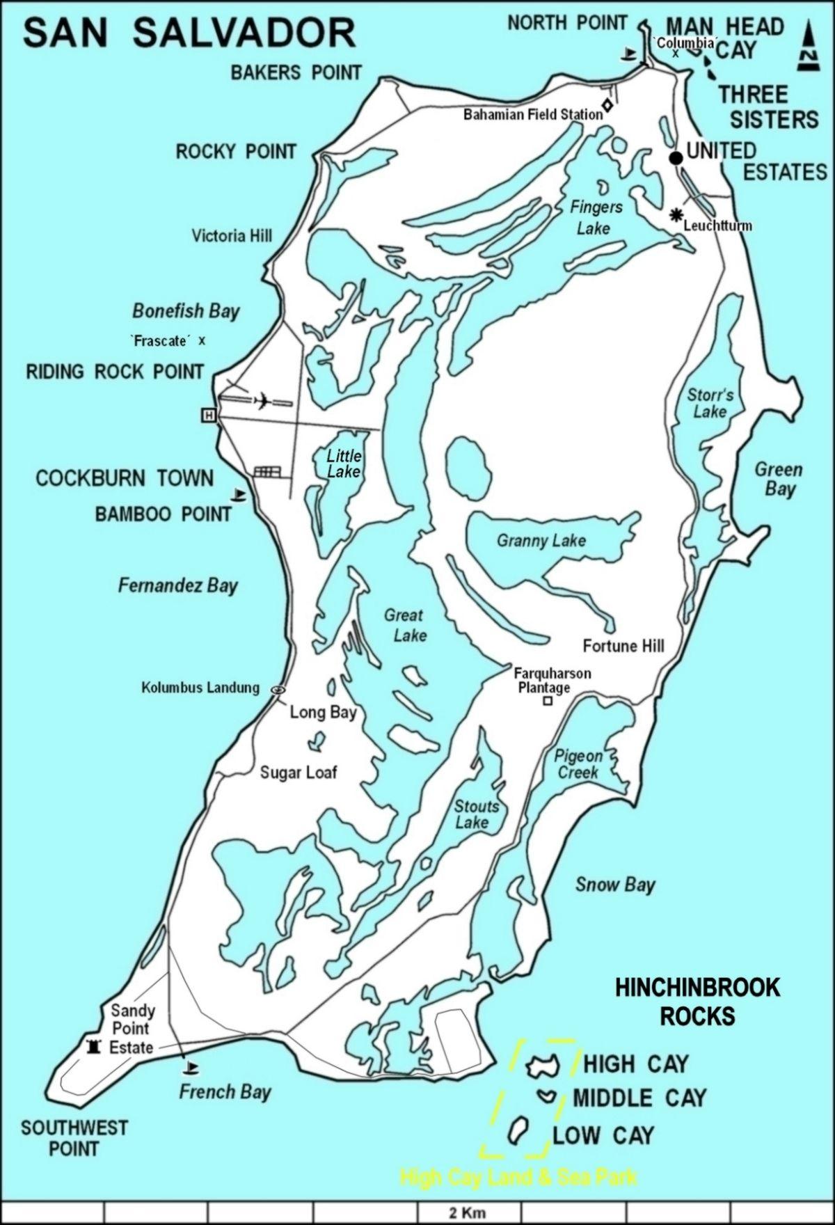 San Salvador Island Wikipedia - Bahamas country political map
