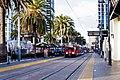 San Diego MTS Light Rail Vehicle at Santa Fe Depot (8726075399).jpg