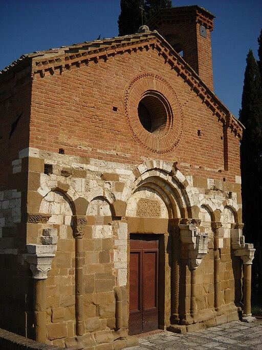 Chiesa di San Pietro in Villore a San Giovanni d'Asso, in provincia di Siena