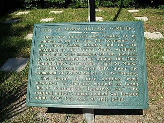 San Marcos de Apalache Historic State Park - Image: San Marcos de Apalache SP cemetery marker 01