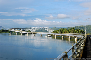 San Juanico Bridge - The San Juanico Bridge, view from Samar, towards Leyte