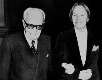 Nilde Iotti - President of the Chamber of Deputies Leonilde Iotti together with President Sandro Pertini.