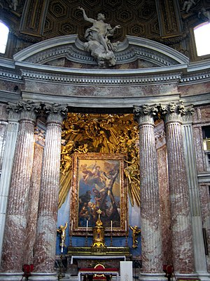 Church of Saint Andrew's at the Quirinal - Main altar - Martyrdom of  Saint Andrew (1668) by Guillaume Courtois.