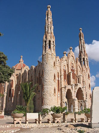 Valencian Art Nouveau - Sanctuary of Holy Maria Magdalena, in Novelda (Alicante).