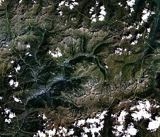 Bibliography of Andorra - Satellite image of Andorra