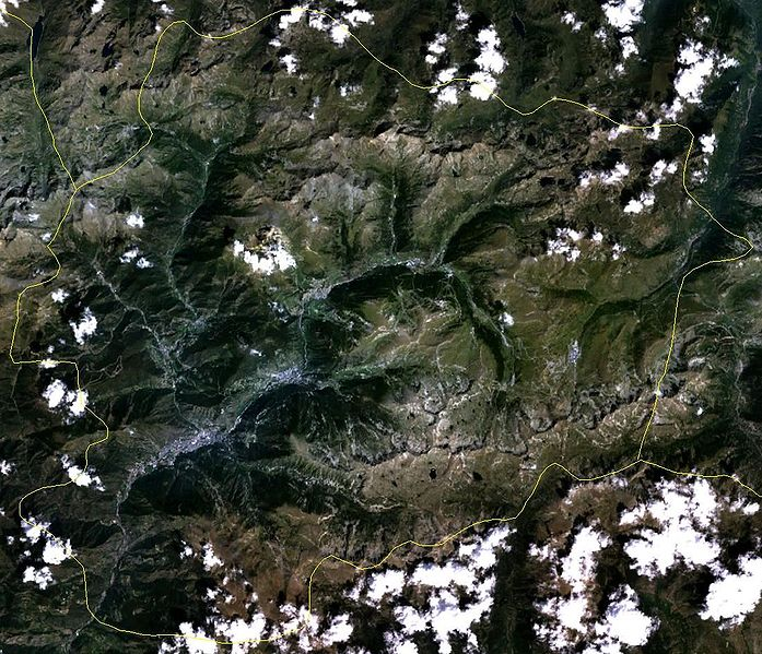 Satellitenaufnahme Andorra