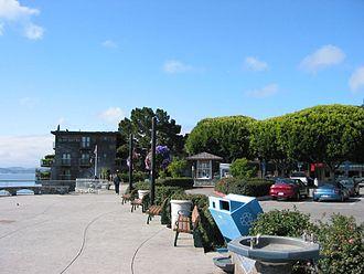 Sausalito, California - Sausalito's harbor sidewalk
