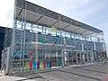 Savoya Park complex. Auchan hypermarket, main entrance. - Budapest, 11th district. Albertfalva.Hunyadi János Rd 19.JPG