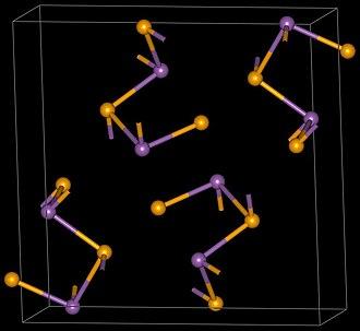 Antimony triselenide - Image: Sb 2Se 3 structure