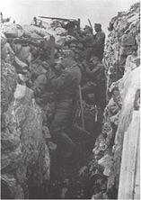 Rakouské příkopy naproti Itálii na Isonzu