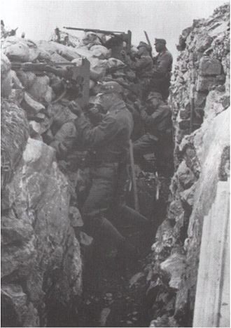First Battle of the Isonzo - Austro-Hungarian trench at the Soča (Isonzo)