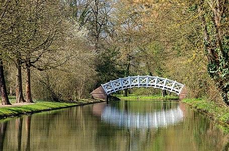 Schwetzingen, Schlossgarten: Chinese bridge, seen from north-northeast over the canal.