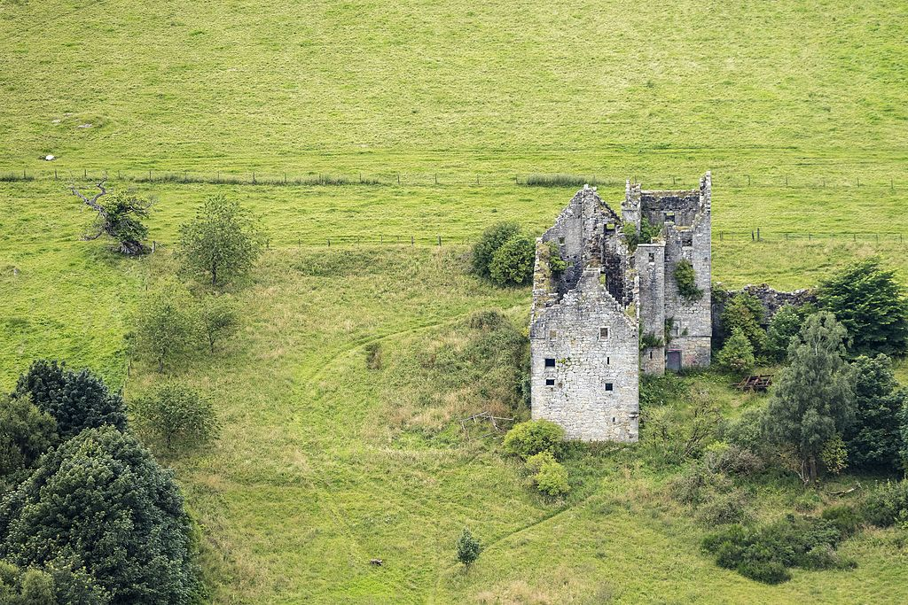Aerial photo of Torwood Castle.