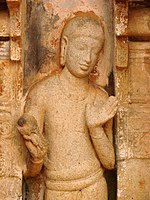 A granite sculpture on the walls of a temple