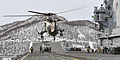 Sea King Lifting Off from HMS Illustrious near Norway MOD 45156186.jpg