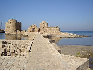 Sea castle in Sidon, Lebanon