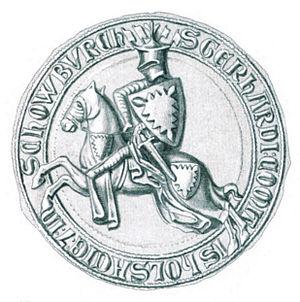 Gerhard II, Count of Holstein-Plön - Seal used by Gerhard between 1274 and 1311