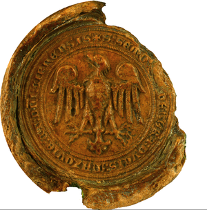 Siemowit III, Duke of Masovia - Princely seal of Siemowit III; 1371