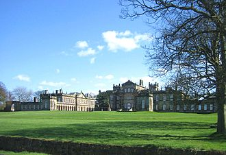 Seaton Delaval Hall - Image: Seaton Delaval Hall all from NW with tree