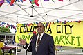 Seattle City Councilmember Richard McIver at Columbia City Farmers Market, 2000 (49596765492).jpg