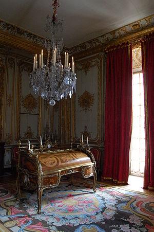 Bureau du Roi - Image: Secrétaire à cylindre de Louis XV 4