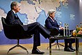 Secretary Kerry, British Chancellor of the Exchequer Hammond Listen to Chatham House Director Niblett (30602568341).jpg