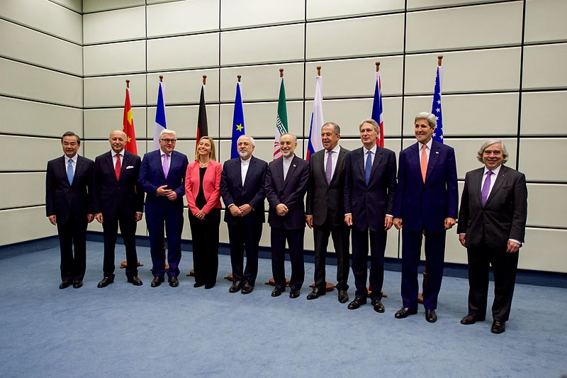 File:Secretary Kerry Posed for a Group Photo With E.U., P5+1, and Iranian Officials Before Final Plenary of Iran Nuclear Negotiations in Austria.jpg