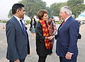 Secretary Tillerson Bids Farewell to U.S. Charge d'Affaires MaryKay Carlson Before Departing New Delhi (37893124616).jpg