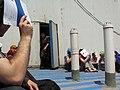 Seeking protection on a roof. (4073571011).jpg