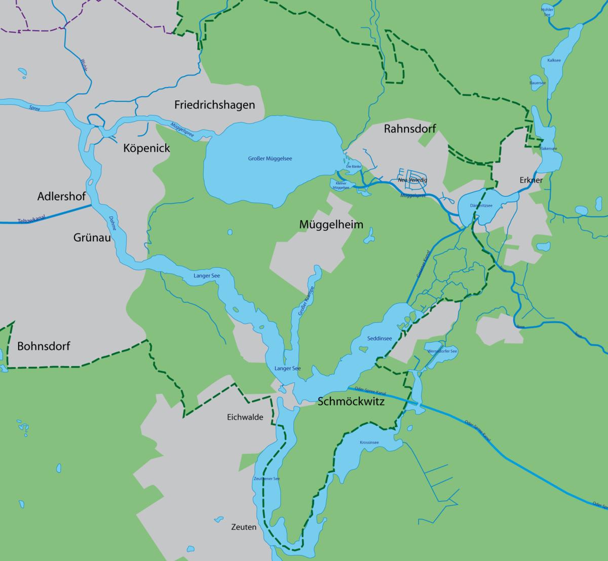 Langer See Wikipedia - Berlin on world map