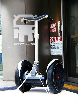 Robot locomotion - Segway in the Robot museum in Nagoya.