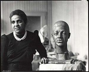 Selma Burke - Selma Burke in her studio.