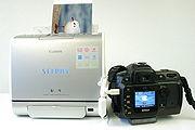 Ende des Druckvorgangs. An der Kamera kann das nächste Bild von der eingelegten Speicherkarte gewählt werden.