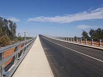 Senegambia bridge - Image: Senegambia Bridge North Approach 23January 2019