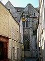 Senlis (60), ancienne église St-Aignan, façade nord depuis la rue du Four 03.09.2011 02.jpg