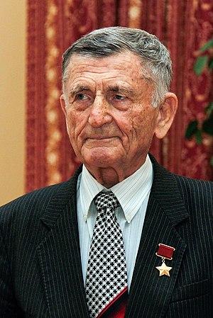 Sergei Kramarenko - Major-General Sergei Kramarenko, with the Golden Star of Hero of the Soviet Union, in 2010.