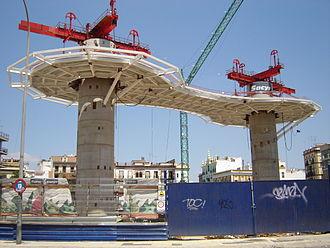 Metropol Parasol - The Parasol under construction, May 7, 2007.