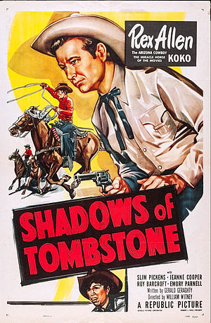 Rex Allen - Poster for Shadows of Tombstone, 1953