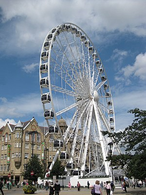 Wheel of Sheffield - The Wheel Of Sheffield viewed from the town hall
