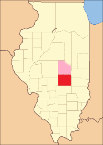 Shelby County, Illinois - Image: Shelby County Illinois 1827