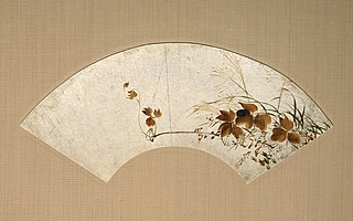 Autumn Leaves and Grasses (Akikusa zu urushi-e senmen)