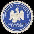 Siegelmarke K.Pr. 5. Kavallerie-Brigade W0288114.jpg
