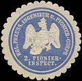 Siegelmarke K.Pr. Ingenieur und Pionier-Corps 2. Pionierinspektion W0379154.jpg