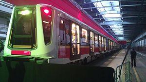 Siemens Inspiro - Warsaw Metro train at Kabaty depot.