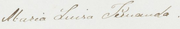 Signature of Infanta Maria Luisa Fernanda of Spain, Duchess of Montpensier sister of Isabel II.png