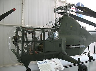 Sikorsky H-5 - A U.S. Army R-5D at the Army Aviation Museum. Note the presence of both nosewheel and tailwheel.