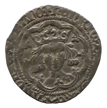 Silver groat of Henry V, York Museums Trust Silver groat of Henry V (YORYM 1980 794) obverse.jpg